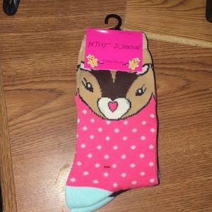 3 pack Betsey Johnson crew socks